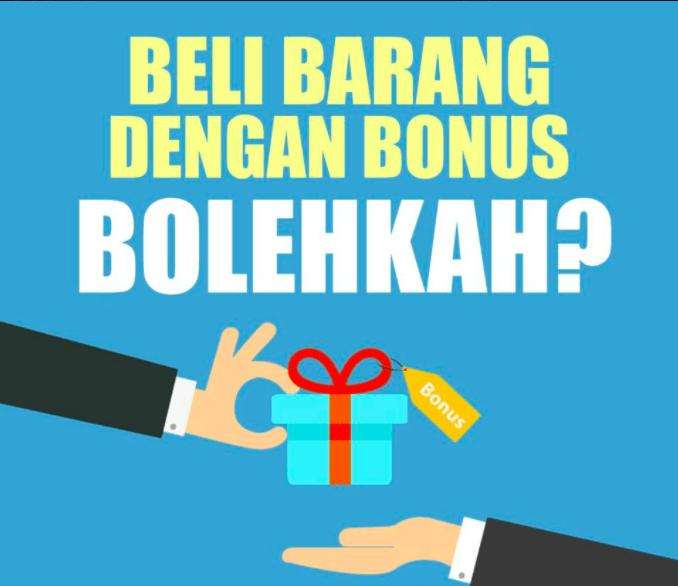 jual beli barang dengan bonus