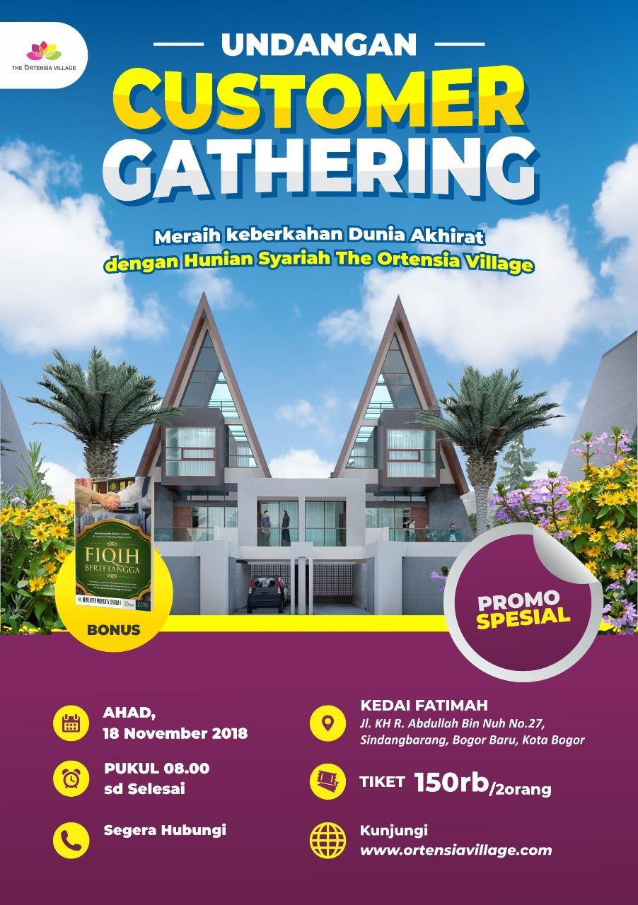 customer gathering perumahan syariah di bogor