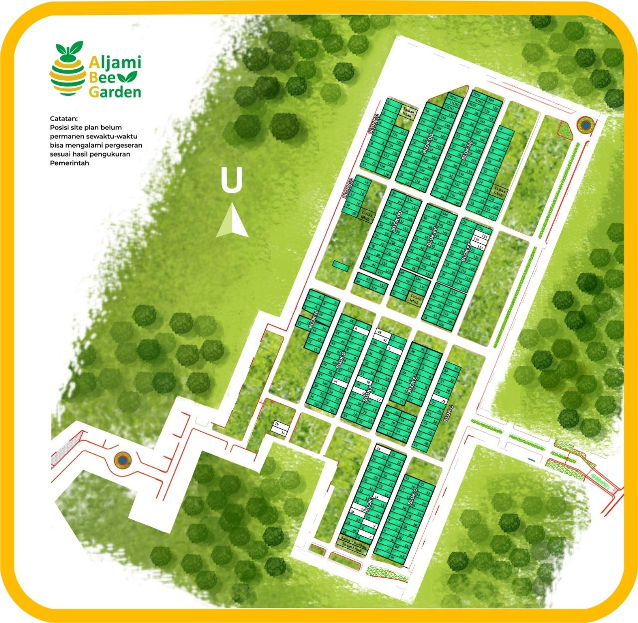 siteplan aljami bee garden jasinga