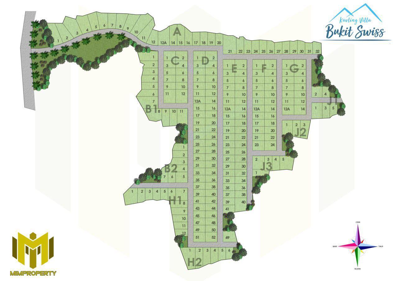 siteplan kavling villa bukit swiss jonggol