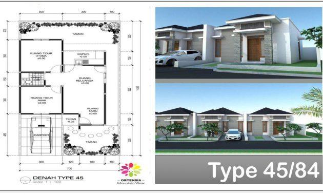 rumah type 45-84 ortensia mountain view