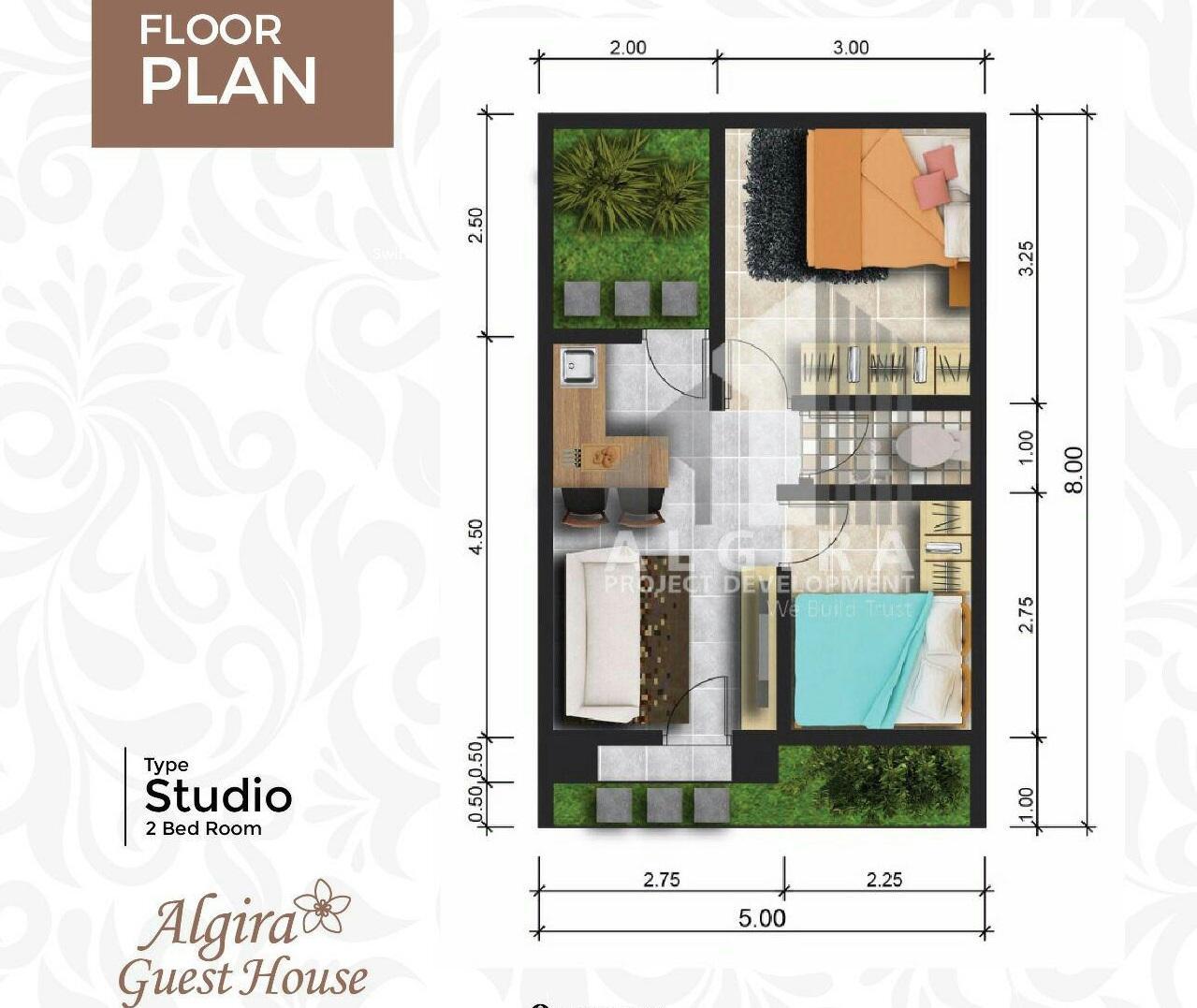 algira guesthouse 2 bedroom