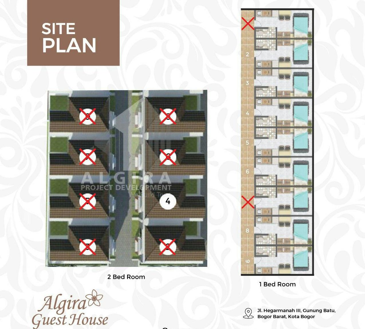algira guesthouse siteplan